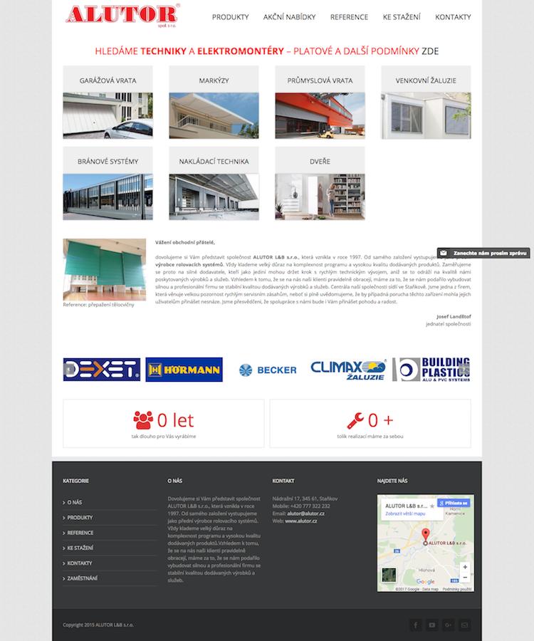 ALUTOR - Venkovní rolety, garážová vrata, žaluzie, bránové systémy 18. 3. 2017 17-34-38
